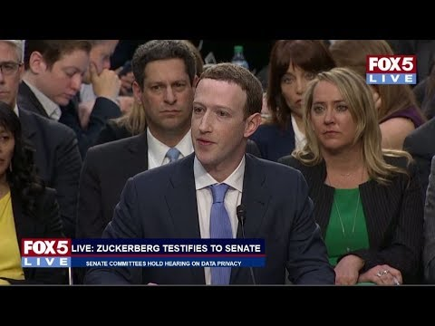 FOX 5 LIVE (4/10) Facebook CEO Zuckerberg testifies in Senate hearing on Cambridge Analytica scandal