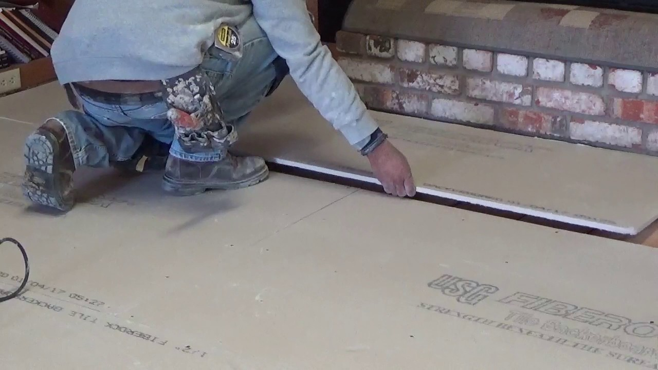 Laying Floor for Tile, How to prep the Floor - YouTube