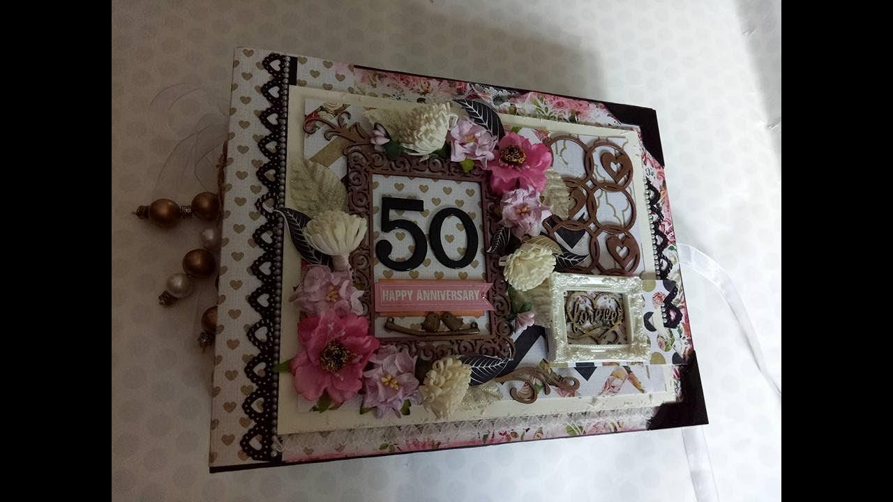 50th Wedding Anniversary Mini Scrapbook Album Youtube