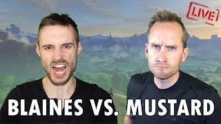 Blaines vs. Mustard Plays All Dungeons + Ganon Speedrun in The Legend of Zelda; Breath of the Wild