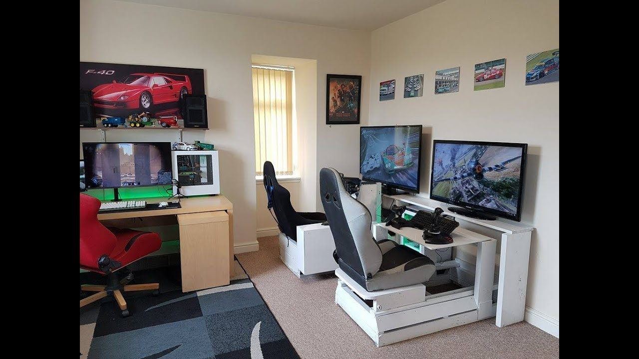 gaming man cave room tour youtube