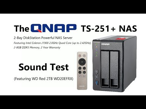 The QNAP TS-251+ NAS Sound Test - How loud is the QNAP TS