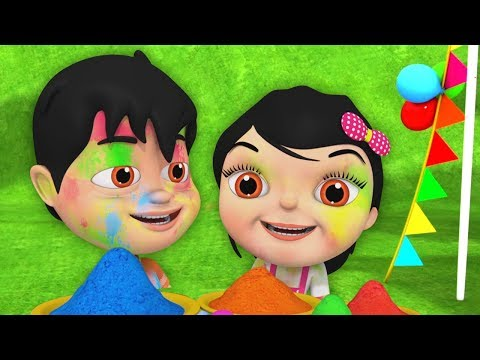 Holi Me Mach Gaya Dhamaal | Happy Holi Song in Hindi | Nursery Rhymes Hindi | Holi Song Hindi