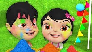 Holi Me Mach Gaya Dhamaal | Happy Holi Song in Hindi | Nursery Rhymes Hindi | Holi Song Hindi