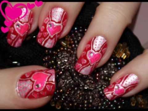 Nail Design Valentine Nails Migi Nail Art Pen Youtube