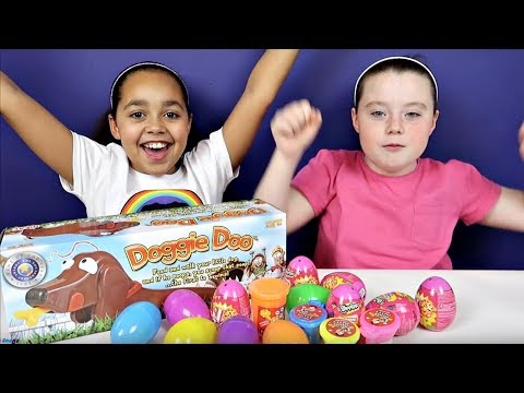 GROSS Doggie Doo Toy Challenge Game - Gooey Poo - Noise Putty - Shopkins Surprise Eggs