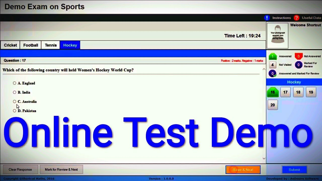 Online Test Demo  YouTube