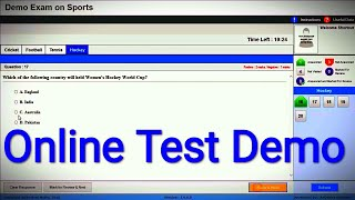 Online Test Demo