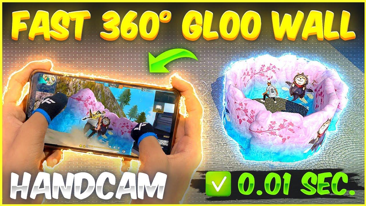 [ Handcam ] Super Fast 360 Degree Gloo Wall Trick 🔥| Fastest 360 Degree Gloo Wall Setting Free Fire