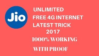 JIO Free Internet Trick 2017 ( 100% working)| without recharge| lifehackerr😱