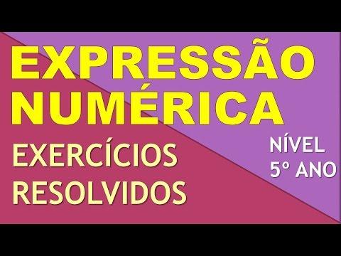 Expressão Numérica Exercícios 5 ano (Aula 2)