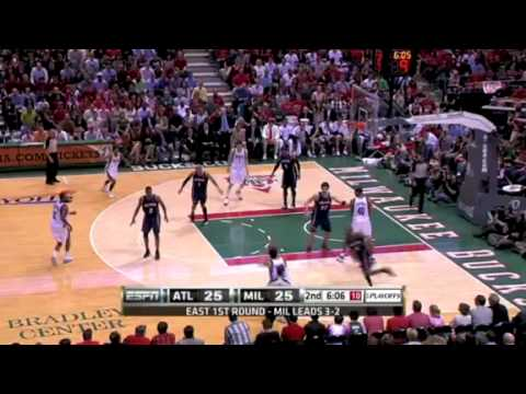 With the Hawks up 6 after a 9-0 scoring run in R1G6 against the Bucks in the 2010 playoffs, Carlos Delfino drains three 3-pointers in <2 min. to give Milwaukee the lead and all the momentum in its own arena. Historians are unable to find any record of the last 1.5 games of that series.