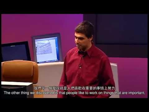 TED 中英雙語字幕:  Sergey Brin 和 Larry Page 談 Google