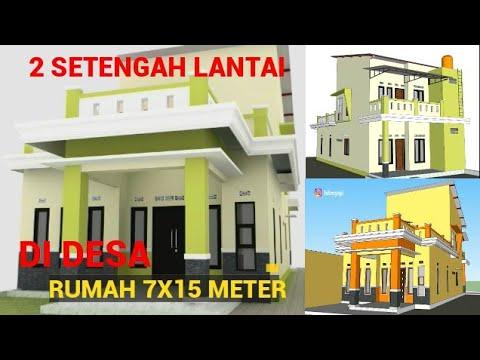 desain rumah minimalis 7x15 meter 2 setengah lantai 4