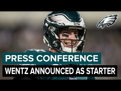 Head Coach Doug Pederson Announces Carson Wentz As Starting QB | Eagles Press Pass