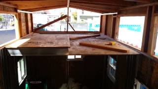 Tiny house roof waterproofing done.