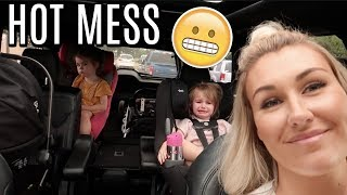 FIRST DAY SOLO WITH 3 KIDS | Tara Henderson
