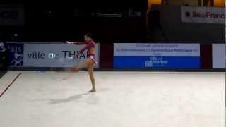 Liubov Charkashyna cerceau grand prix de Thiais 2012