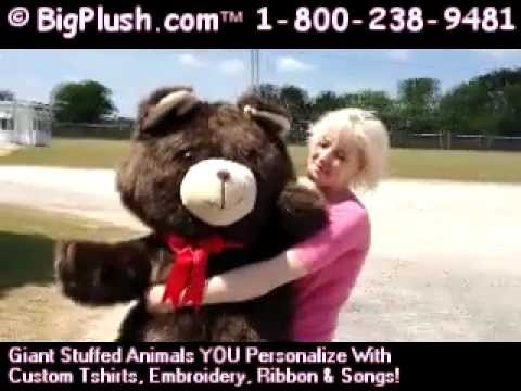 Big Plush 4 Feet Tall Giant Teddy Bear With Luxurious Long Brown Fur  Personalized Free MADE IN USA   YouTube