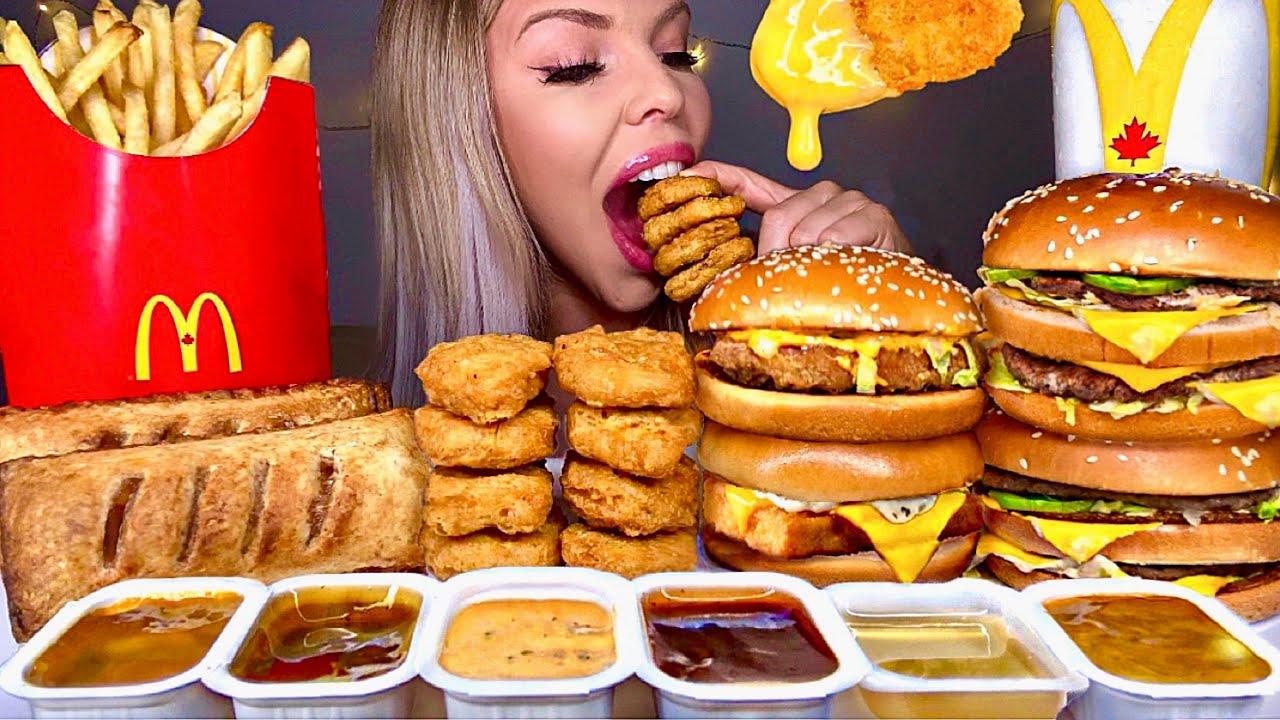 ASMR MCDONALDS CHICKEN SANDWICH, BIG MAC, APPLE PIE, CHICKEN NUGGETS, FISH FILLET FRIES MUKBANG 먹방