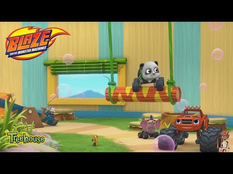 "Blaze & The Monster Machines, ""Babysitting Heroes"" CLIP 