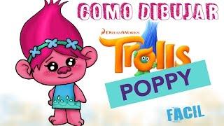 Como dibujar a Poppy Trolls / How to draw Poppy