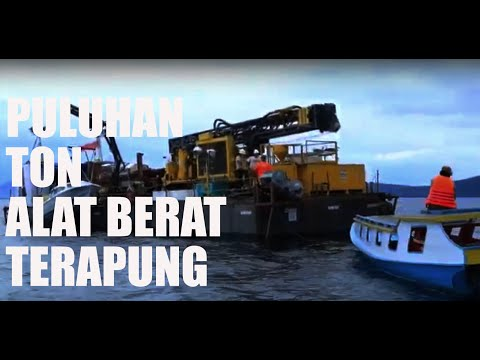 "Drilling towuti ""Towing the Barge"""