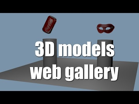 Make an Online 3D Gallery For Your Models, Start & Stop Animations, a blend4web Tutorial