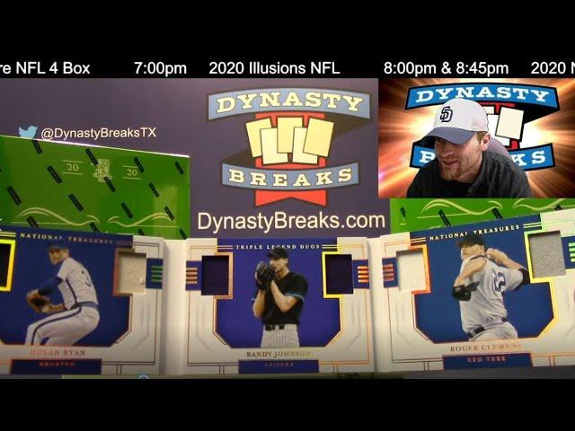 2020 National Treasures Baseball Card 4 Box Case Break #6   Sports Cards
