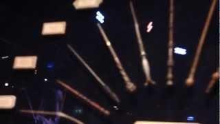 Wand display of character wands at the Warner Bros. Making of Harry...