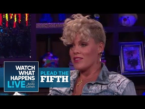 Pink Addresses The Christina Aguilera Beef | Plead The Fifth | WWHL