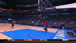 Repeat youtube video Derrick Rose Dunk Before Chicago Bulls Oklahoma City Thunder Game