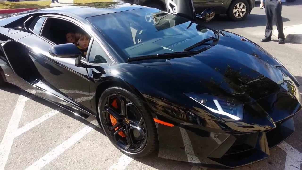 Lamborghini Aventador Walkaround At Cars And Coffee In San Antonio Texas    YouTube