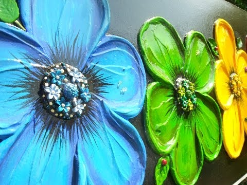 How To Paint Abstract Textured Flowers Art Compe Ion Learn To Paint