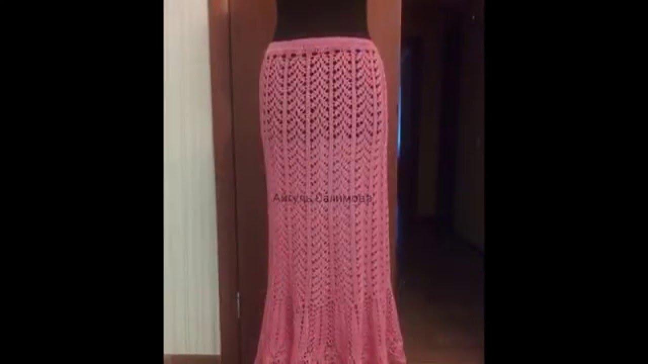 8722b8ddb Modelos de faldas largas tejidas a crochet