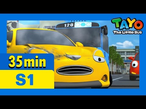 Tayo S1 Full Episodes S1 E20-E22 (7/8) l Please make up, Frank and Alice l Speeding is dangerous