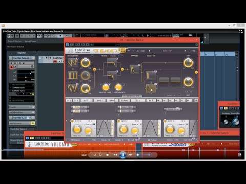 Fabfilter Twin 2 Synth Demo, Plus Some Volcano and Saturn FX