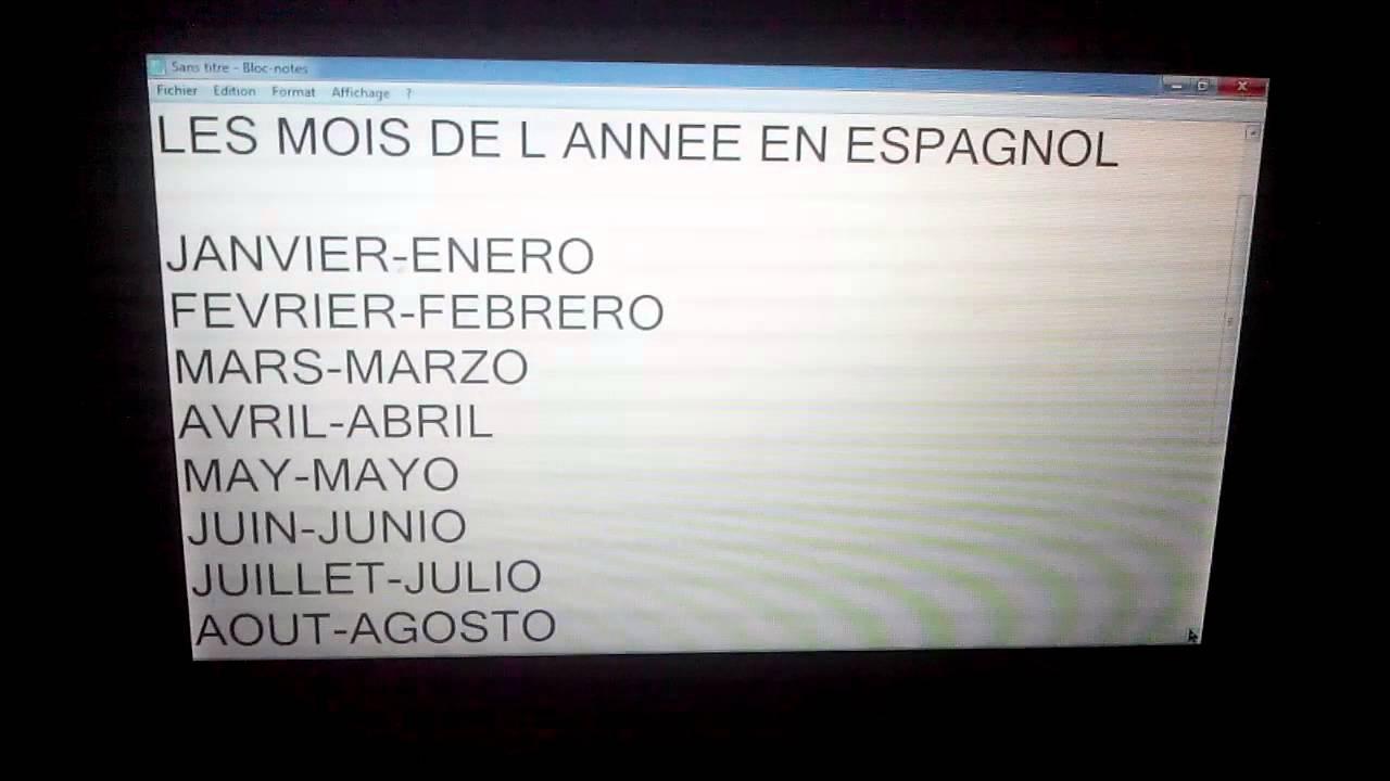 comment dire les annees en espagnol