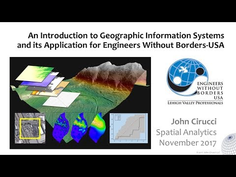 GIS for Engineers Without Borders - USA Projects. PART 1: Intro to GIS
