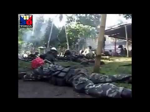 Actual Footage of Philippine ARMY vs Abu Sayyaf Bandits