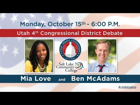 4th Congressional District Debate with Ben McAdams and Mia Love