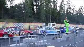 Burnout stuntshow, car action stunts, FOLCO TEAM, Tusenfryd, Norway summer 2015