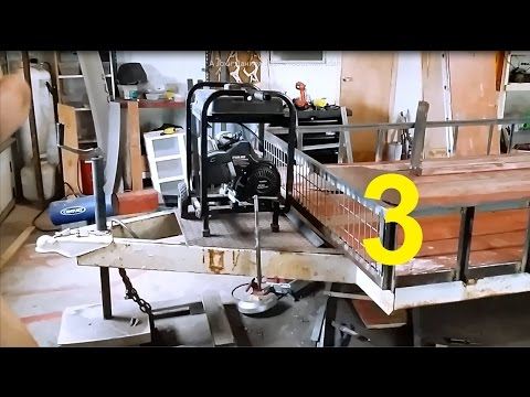 Build Flat Bed utility Trailer from Salvage RV Frame #3 (parts List Below)