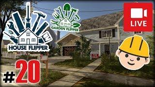 """[Archiwum] Live - HOUSE FLIPPER Garden DLC! (10) - [1/2] - """"Czerwona siłownia"""""""