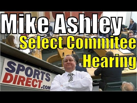 Mike Ashley's full evidence to select committee on Sports Di