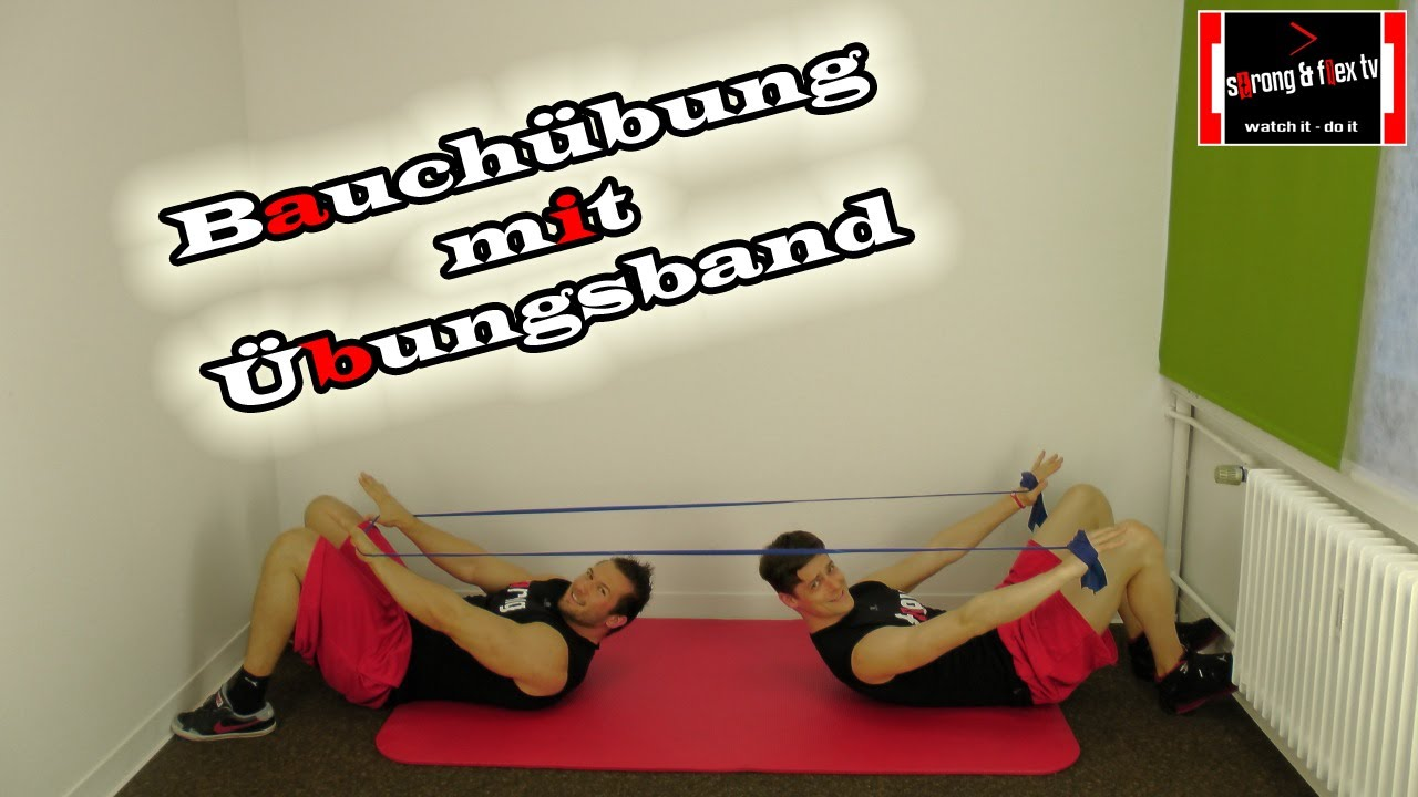 bauch bung mit theraband youtube. Black Bedroom Furniture Sets. Home Design Ideas