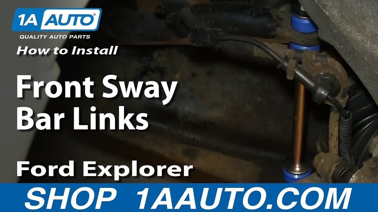 How To Install Replace Front Sway Bar Links 19952010 Ford