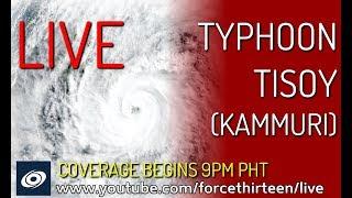 Typhoon Tisoy (kammuri) Landfall Live Stream   Force Thirteen Live