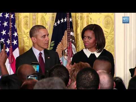 US President Obama Talks About Nigerian-American Saheela Ibraheem.-- 02262015