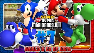 Sonic & Mario in New Super Mario Bros Wii - Co Op 100% - Part 7